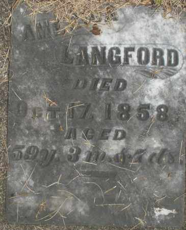 LANGFORD, AMERICA - Preble County, Ohio | AMERICA LANGFORD - Ohio Gravestone Photos