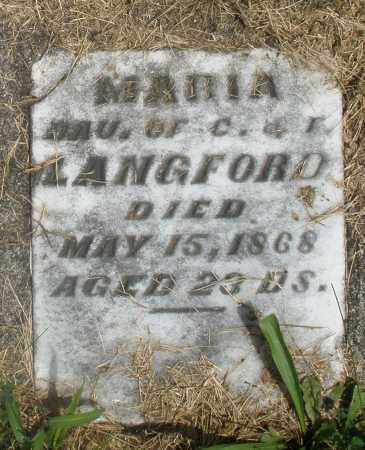 LANGFORD, MARIA - Preble County, Ohio | MARIA LANGFORD - Ohio Gravestone Photos