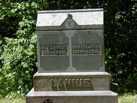 LANIUS, MARY F. - Preble County, Ohio | MARY F. LANIUS - Ohio Gravestone Photos