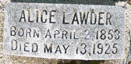 LAWDER, ALICE - Preble County, Ohio | ALICE LAWDER - Ohio Gravestone Photos