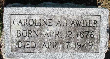 LAWDER, CAROLINE A. - Preble County, Ohio   CAROLINE A. LAWDER - Ohio Gravestone Photos