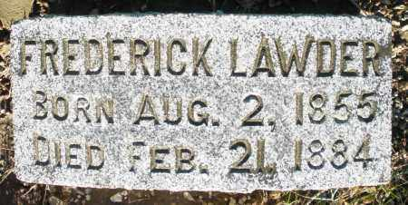 LAWDER, FREDERICK - Preble County, Ohio | FREDERICK LAWDER - Ohio Gravestone Photos