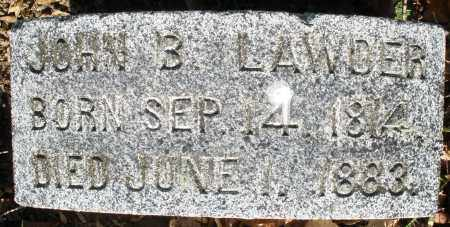 LAWDER, JOHN B. - Preble County, Ohio | JOHN B. LAWDER - Ohio Gravestone Photos