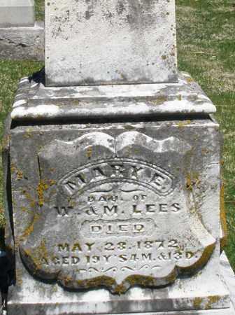 LEES, MARY E. - Preble County, Ohio | MARY E. LEES - Ohio Gravestone Photos