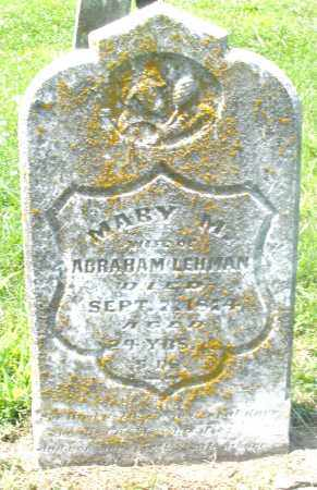 LEHMAN, MARY M. - Preble County, Ohio | MARY M. LEHMAN - Ohio Gravestone Photos