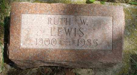 LEWIS, RUTH W. - Preble County, Ohio | RUTH W. LEWIS - Ohio Gravestone Photos