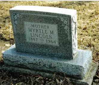 STRAW LINCOLN, MYRTLE M. - Preble County, Ohio | MYRTLE M. STRAW LINCOLN - Ohio Gravestone Photos