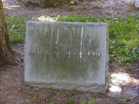 LOCKWOOD, SARAH M. - Preble County, Ohio | SARAH M. LOCKWOOD - Ohio Gravestone Photos