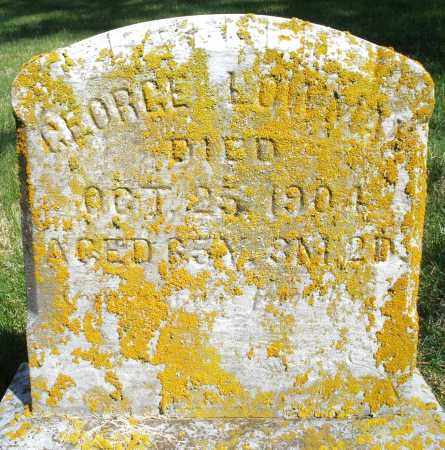 LOWMAN, GEORGE - Preble County, Ohio | GEORGE LOWMAN - Ohio Gravestone Photos