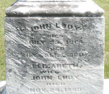 LUDY, JOHN - Preble County, Ohio | JOHN LUDY - Ohio Gravestone Photos