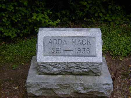 MACK, ADDA - Preble County, Ohio | ADDA MACK - Ohio Gravestone Photos