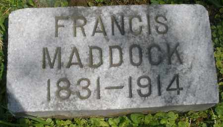 MADDOCK, FRANCIS - Preble County, Ohio | FRANCIS MADDOCK - Ohio Gravestone Photos
