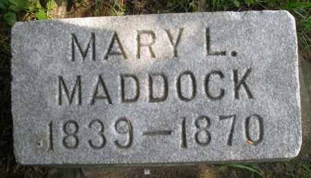 MADDOCK, MARY L. - Preble County, Ohio | MARY L. MADDOCK - Ohio Gravestone Photos