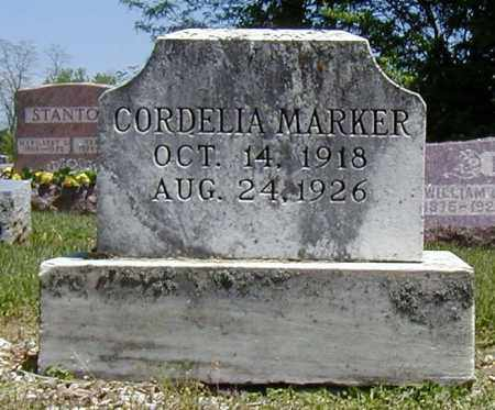 MARKER, CORDELIA - Preble County, Ohio | CORDELIA MARKER - Ohio Gravestone Photos