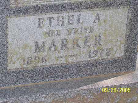 WHITE MARKER, ETHEL A - Preble County, Ohio | ETHEL A WHITE MARKER - Ohio Gravestone Photos