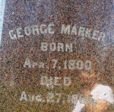 MARKER, GEORGE - Preble County, Ohio | GEORGE MARKER - Ohio Gravestone Photos