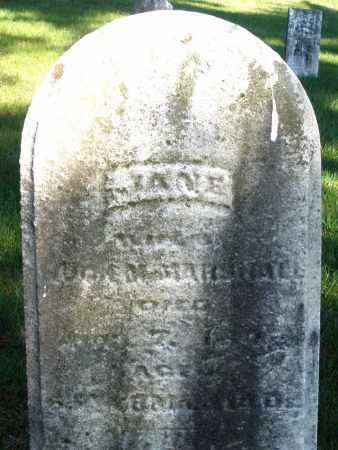 MARSHALL, JANE - Preble County, Ohio | JANE MARSHALL - Ohio Gravestone Photos