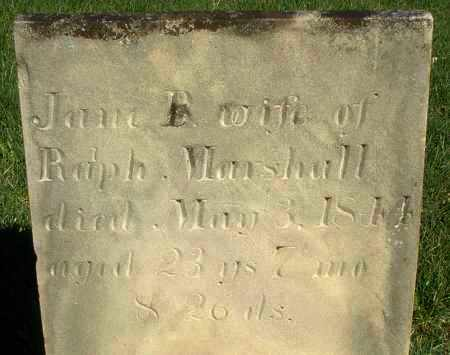 MARSHALL, JANE B. - Preble County, Ohio | JANE B. MARSHALL - Ohio Gravestone Photos