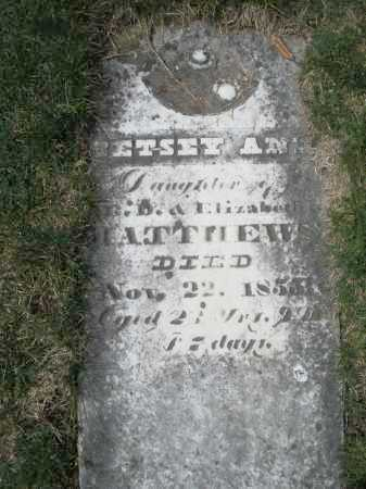 MATTHEW, BETSEY ANN - Preble County, Ohio | BETSEY ANN MATTHEW - Ohio Gravestone Photos