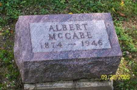 MCCABE, ALBERT - Preble County, Ohio | ALBERT MCCABE - Ohio Gravestone Photos
