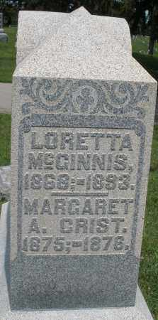MCGINNIS, LORETTA - Preble County, Ohio | LORETTA MCGINNIS - Ohio Gravestone Photos