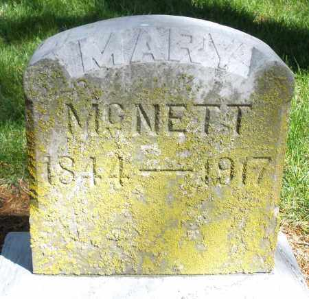 MCNETT, MARY - Preble County, Ohio | MARY MCNETT - Ohio Gravestone Photos