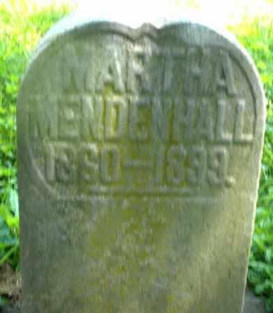 MENDENHALL, MARTHA - Preble County, Ohio   MARTHA MENDENHALL - Ohio Gravestone Photos