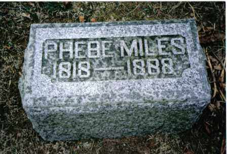 MILES, PHEBE - Preble County, Ohio | PHEBE MILES - Ohio Gravestone Photos