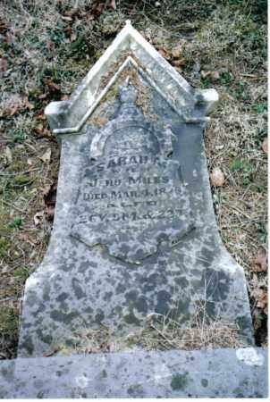 MILES, SARAH A. - Preble County, Ohio | SARAH A. MILES - Ohio Gravestone Photos
