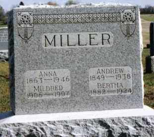 MILLER, BERTHA - Preble County, Ohio | BERTHA MILLER - Ohio Gravestone Photos