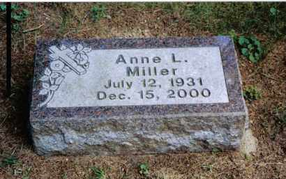 MILLER, ANNE L. - Preble County, Ohio | ANNE L. MILLER - Ohio Gravestone Photos