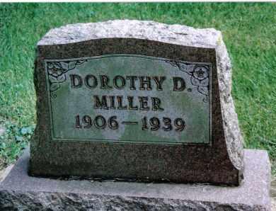 MILLER, DOROTHY D. - Preble County, Ohio | DOROTHY D. MILLER - Ohio Gravestone Photos
