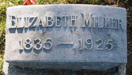 MILLER, ELIZABETH - Preble County, Ohio | ELIZABETH MILLER - Ohio Gravestone Photos