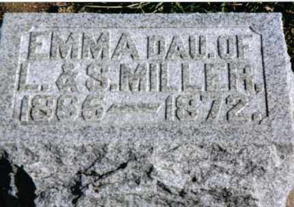 MILLER, EMMA - Preble County, Ohio | EMMA MILLER - Ohio Gravestone Photos