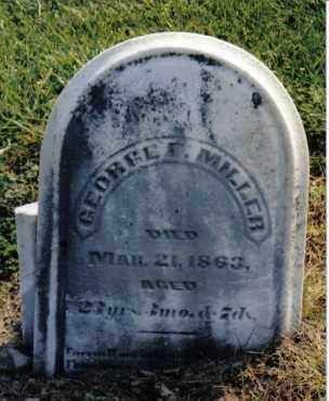 MILLER, GEORGE F. - Preble County, Ohio | GEORGE F. MILLER - Ohio Gravestone Photos