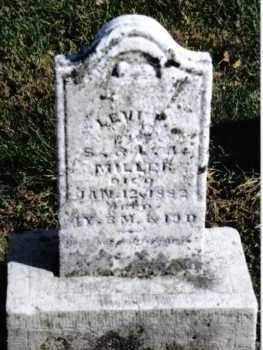 MILLER, LEVI F. - Preble County, Ohio | LEVI F. MILLER - Ohio Gravestone Photos