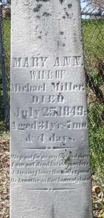 MILLER, MARY ANN - Preble County, Ohio | MARY ANN MILLER - Ohio Gravestone Photos