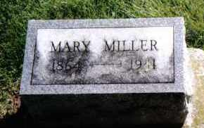 MILLER, MARY - Preble County, Ohio | MARY MILLER - Ohio Gravestone Photos