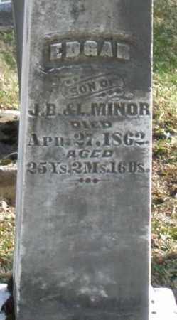 MINOR, EDGAR - Preble County, Ohio | EDGAR MINOR - Ohio Gravestone Photos