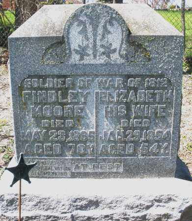 MOORE, ELIZABETH - Preble County, Ohio | ELIZABETH MOORE - Ohio Gravestone Photos