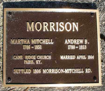 MITCHELL MORRISON, MARTHA - Preble County, Ohio | MARTHA MITCHELL MORRISON - Ohio Gravestone Photos