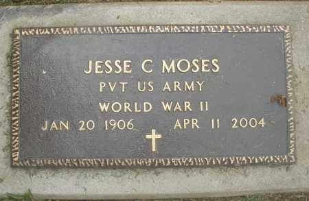 MOSES, JESSE C. - Preble County, Ohio | JESSE C. MOSES - Ohio Gravestone Photos