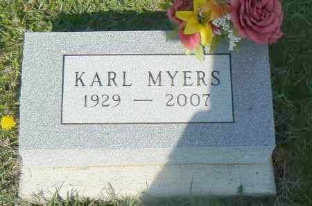 MYERS, KARL - Preble County, Ohio | KARL MYERS - Ohio Gravestone Photos