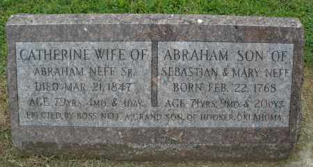 NEFF, ABRAHAM - Preble County, Ohio | ABRAHAM NEFF - Ohio Gravestone Photos