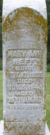NEFF, MARY ANN - Preble County, Ohio | MARY ANN NEFF - Ohio Gravestone Photos