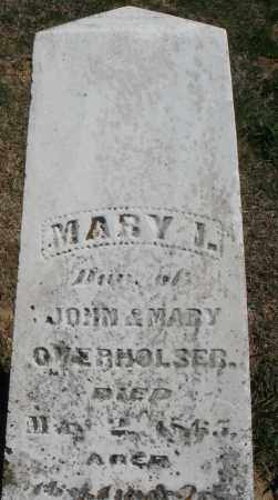 OVERHOLSER, MARY I. - Preble County, Ohio | MARY I. OVERHOLSER - Ohio Gravestone Photos