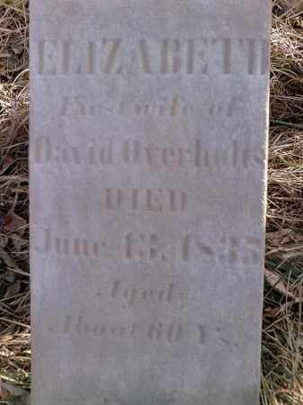 OVERHOLTS, ELIZABETH - Preble County, Ohio | ELIZABETH OVERHOLTS - Ohio Gravestone Photos