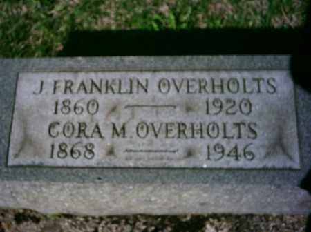 MILLER OVERHOLTS, CORA - Preble County, Ohio | CORA MILLER OVERHOLTS - Ohio Gravestone Photos