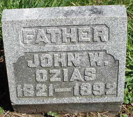 OZIAS, JOHN W. - Preble County, Ohio | JOHN W. OZIAS - Ohio Gravestone Photos