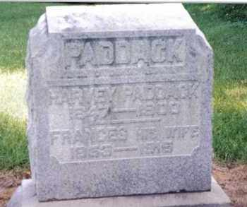 PADDACK, FRANCES - Preble County, Ohio | FRANCES PADDACK - Ohio Gravestone Photos